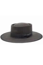 Olive and Pique Vida Flat Brim Wool Gambler Hat - Product Mini Image
