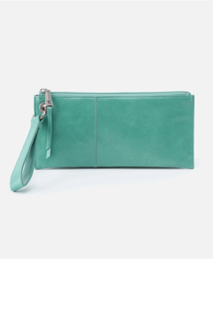Shoptiques Product: Vida Seafoam Leather Wristlet