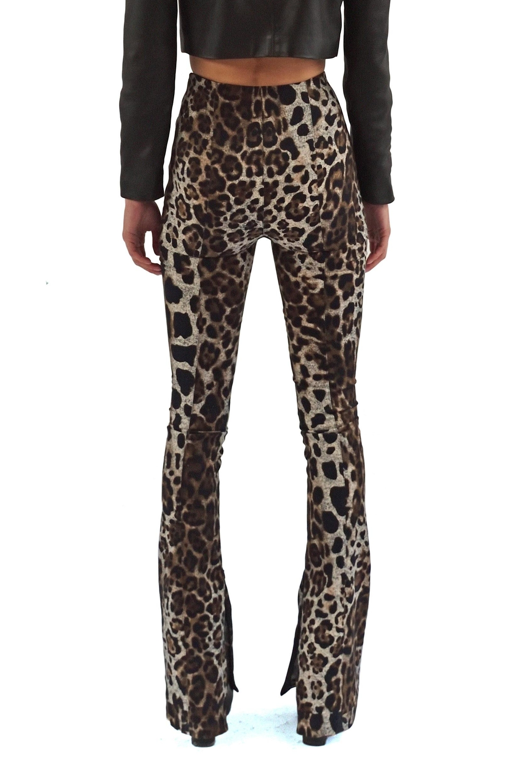 Viesca y Viesca Animal Print Pants - Side Cropped Image