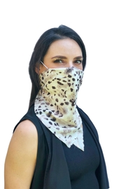 Viesca y Viesca Animal Print Scarf Mask - Product Mini Image