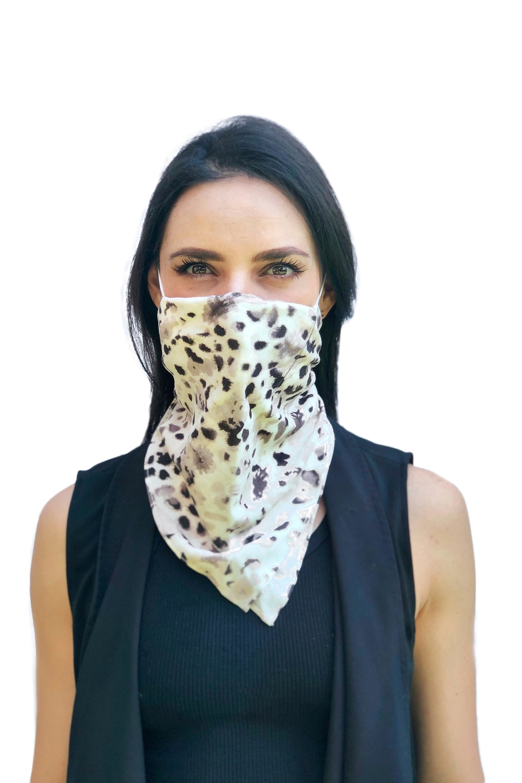 Viesca y Viesca Animal Print Scarf Mask - Front Full Image