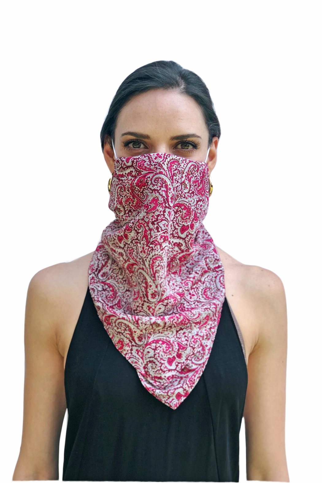 Viesca y Viesca Bohemian Scarf Mask - Front Full Image