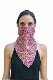 Viesca y Viesca Bohemian Scarf Mask - Front full body