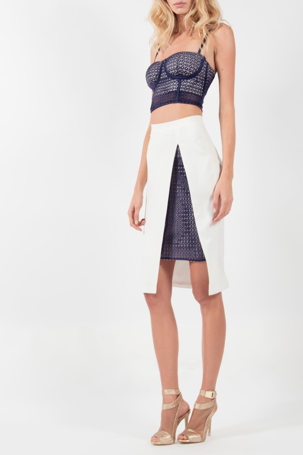 Viesca y Viesca Bustier Skirt Outfit - Front Full Image