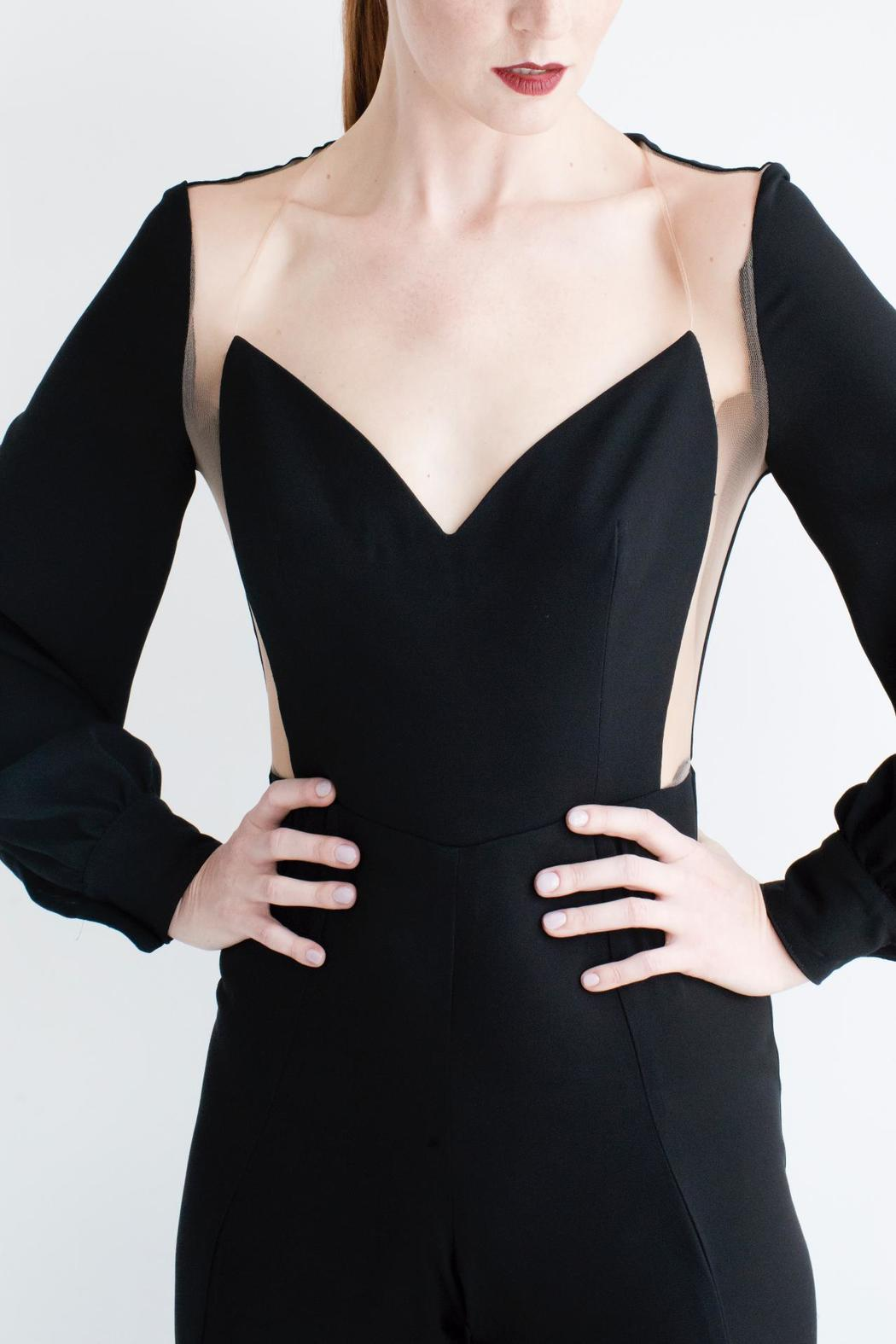 Viesca y Viesca Cut Out Jumpsuit - Front Full Image