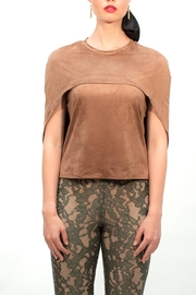 Viesca y Viesca Faux-Suede Cape Blouse - Front full body