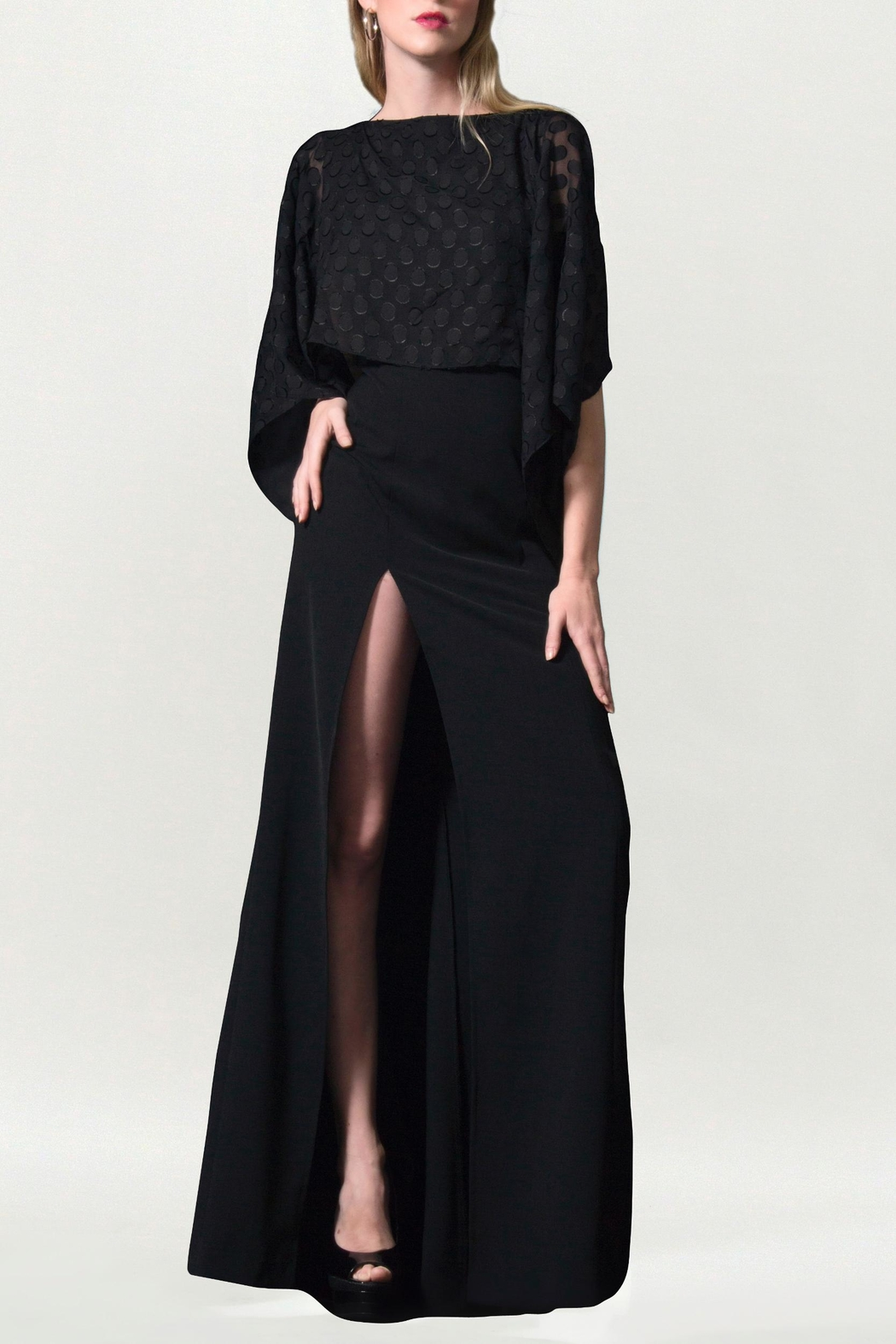 Viesca y Viesca High Slit Maxi Dress - Front Full Image