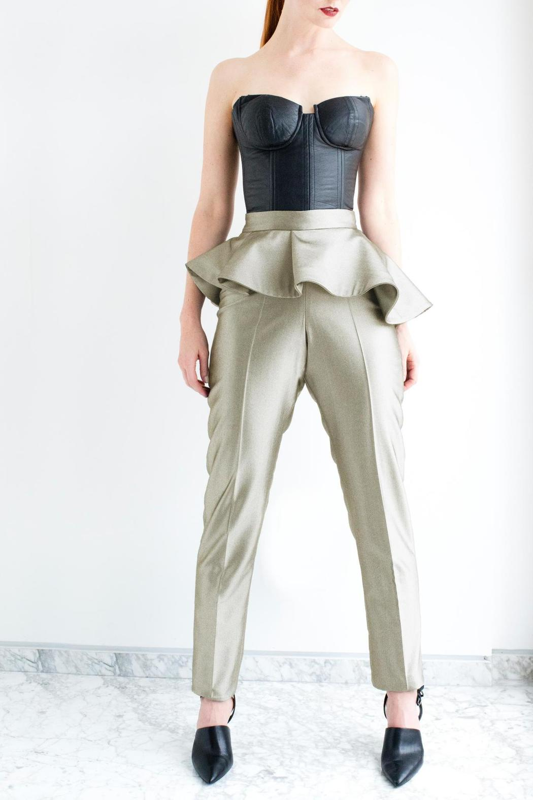 2cc14c7a07b Viesca y Viesca High Waisted Peplum Pants from Mexico — Shoptiques