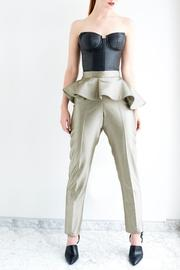 Viesca y Viesca High Waisted Peplum Pants - Product Mini Image
