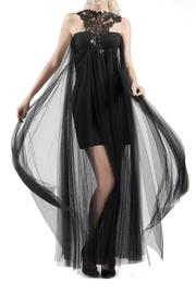 Viesca y Viesca Lace-Embellished Tulle Gown - Product Mini Image