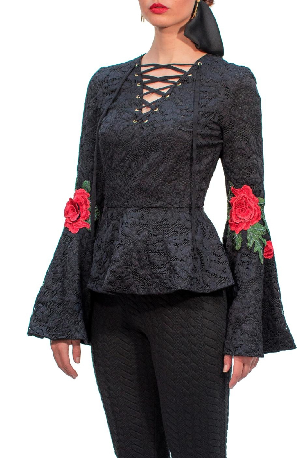 Viesca y Viesca Lace Embroided Blouse - Main Image