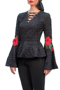 Viesca y Viesca Lace Embroided Blouse - Product List Image
