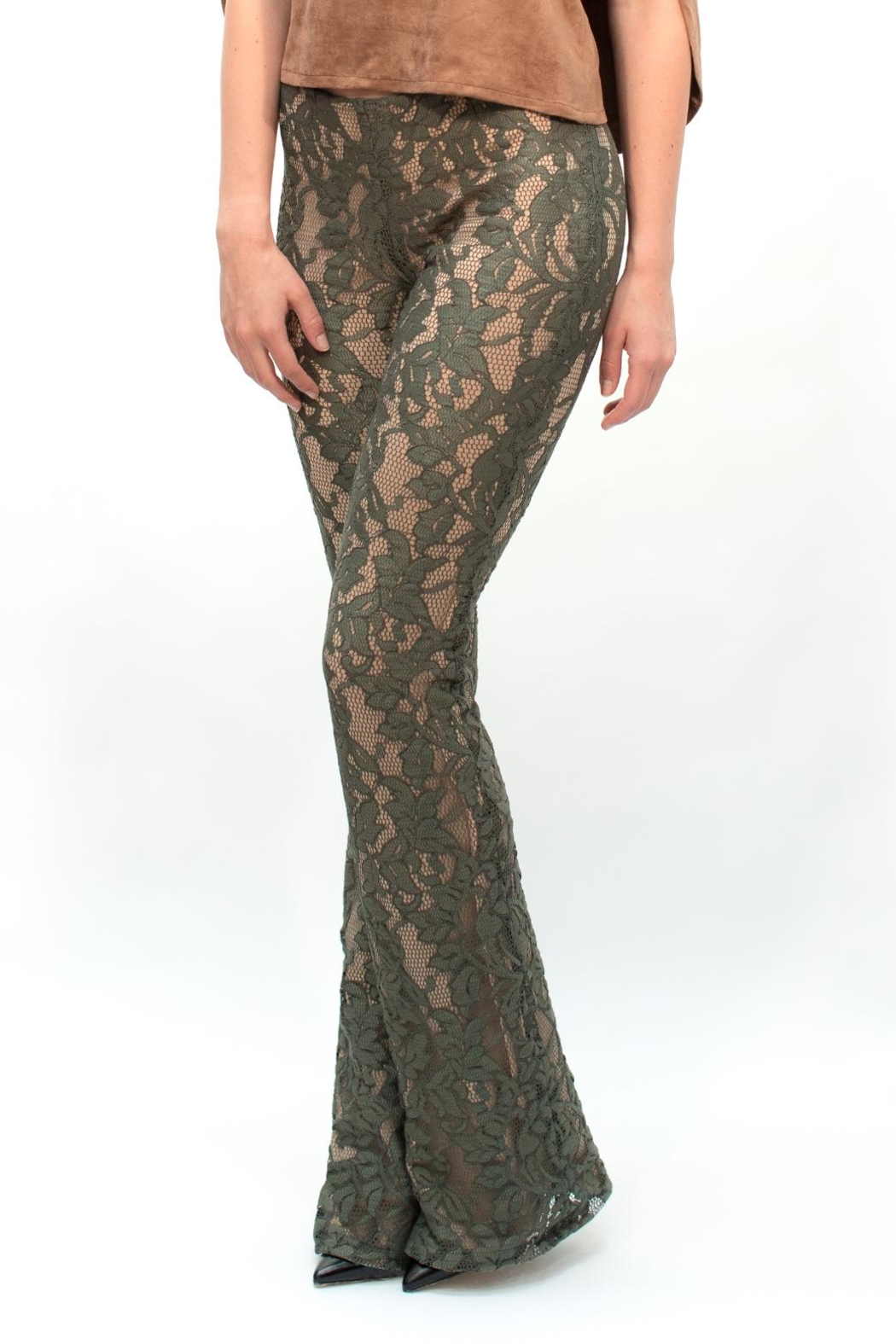Viesca y Viesca Lace Pants - Front Cropped Image