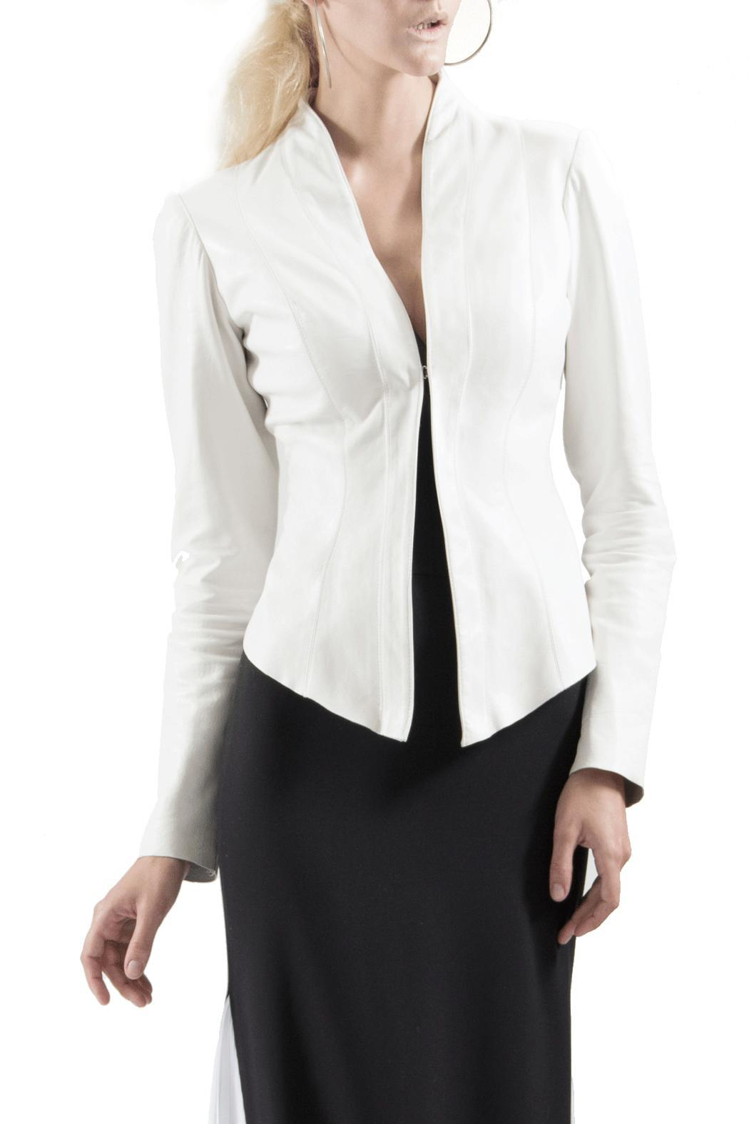 8696b6e7231 Viesca y Viesca Leather Fitted Blazer from Mexico — Shoptiques
