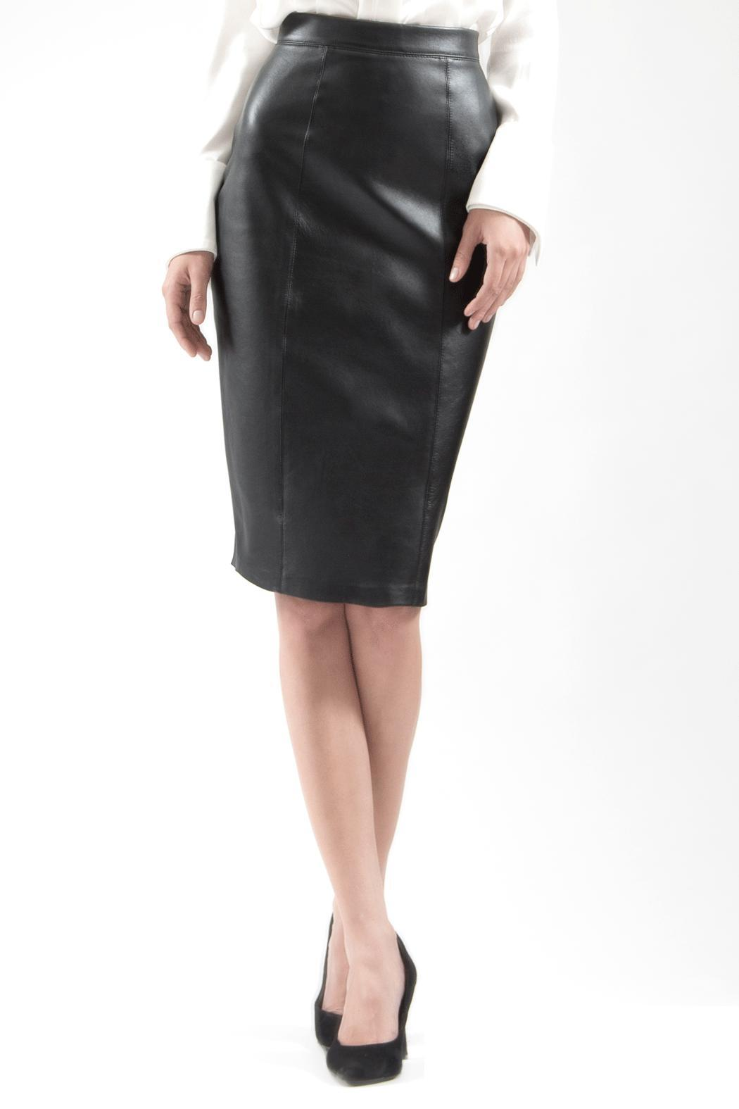 Viesca y Viesca Leather Pencil Skirt - Main Image