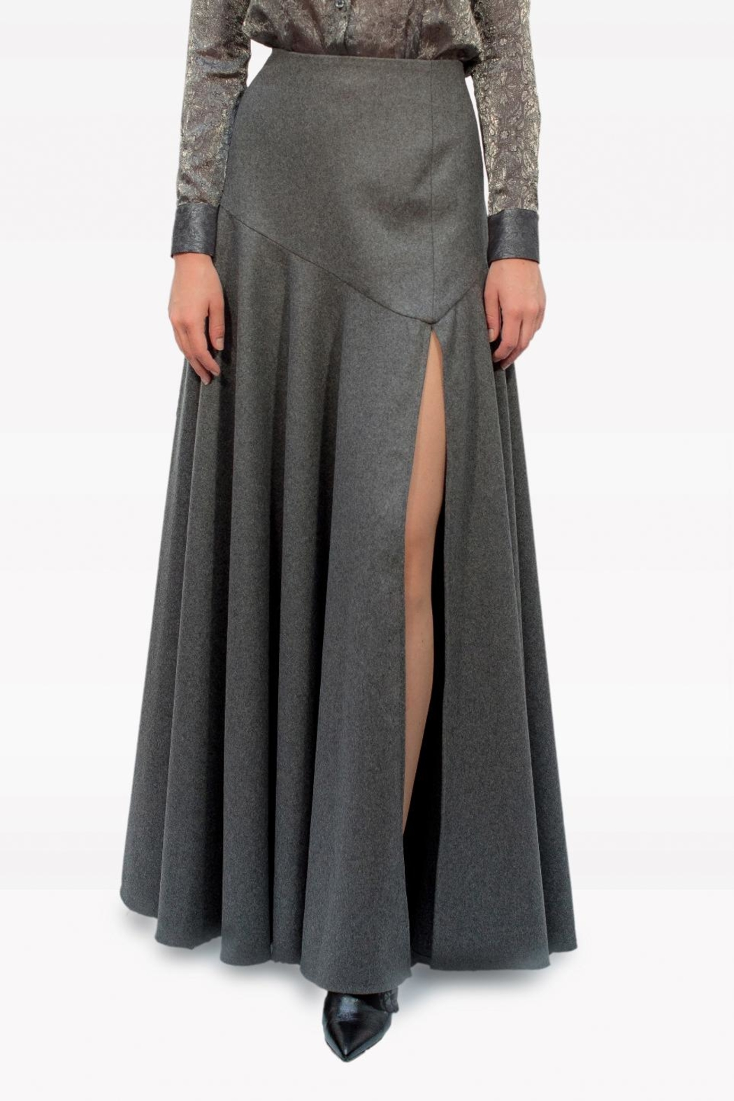 Viesca y Viesca Maxi Wool Skirt - Main Image
