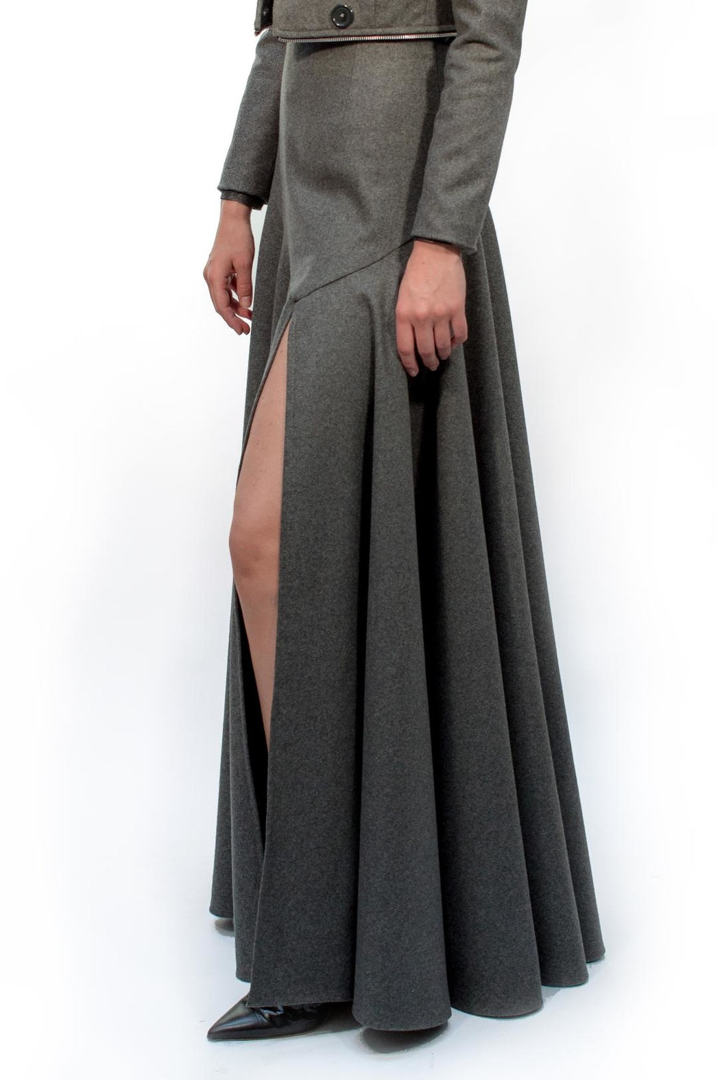Viesca y Viesca Maxi Wool Skirt - Front Full Image