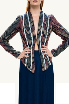 Viesca y Viesca Printed Fitted Blazer - Product List Image