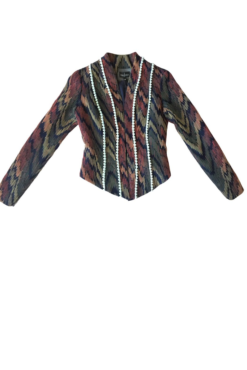 Viesca y Viesca Printed Fitted Blazer - Front Full Image