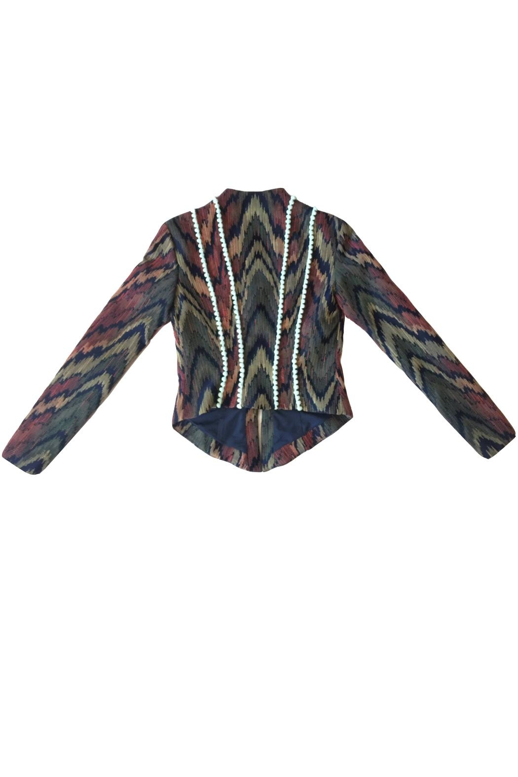 Viesca y Viesca Printed Fitted Blazer - Side Cropped Image