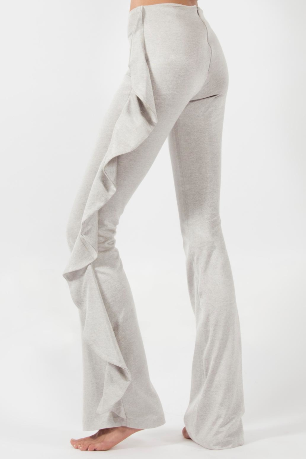 Viesca y Viesca Ruffle Side Pant - Front Full Image