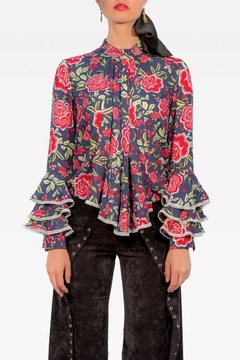 Viesca y Viesca Ruffle Sleeves Shirt - Product List Image