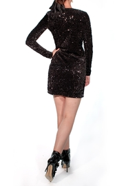 Viesca y Viesca Sequined Short Dress - Front full body