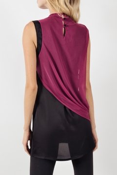 Viesca y Viesca Sleeveless Drapped Blouse - Alternate List Image