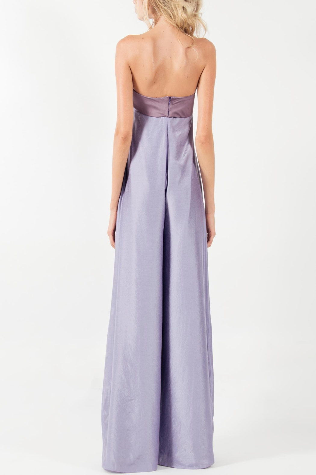 Viesca y Viesca Strapless Jumpsuit - Front Full Image