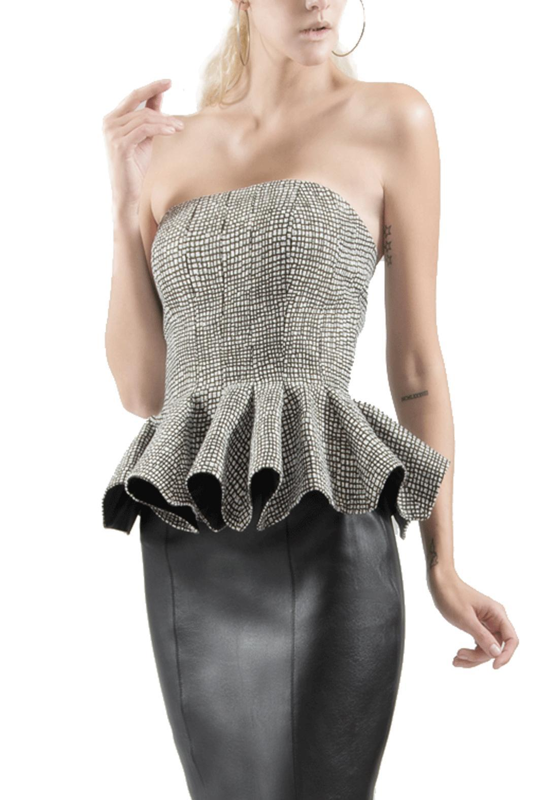 14338a203f3 Viesca y Viesca Strapless Peplum Blouse from Mexico — Shoptiques
