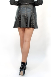 Viesca y Viesca Studded Leather Skirt - Side cropped
