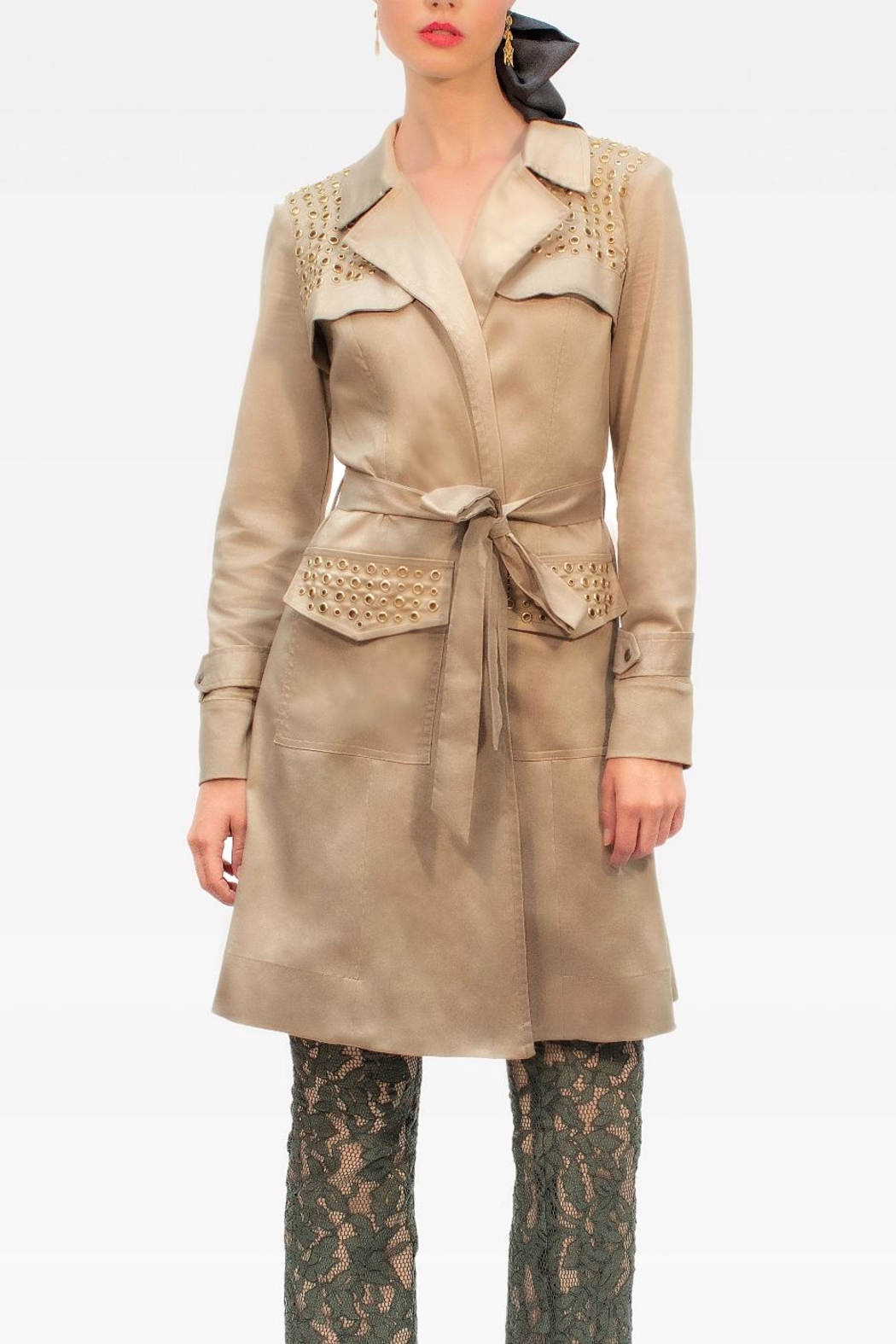 f0c944ae5fc Viesca y Viesca Studded Trnch Coat from Mexico — Shoptiques