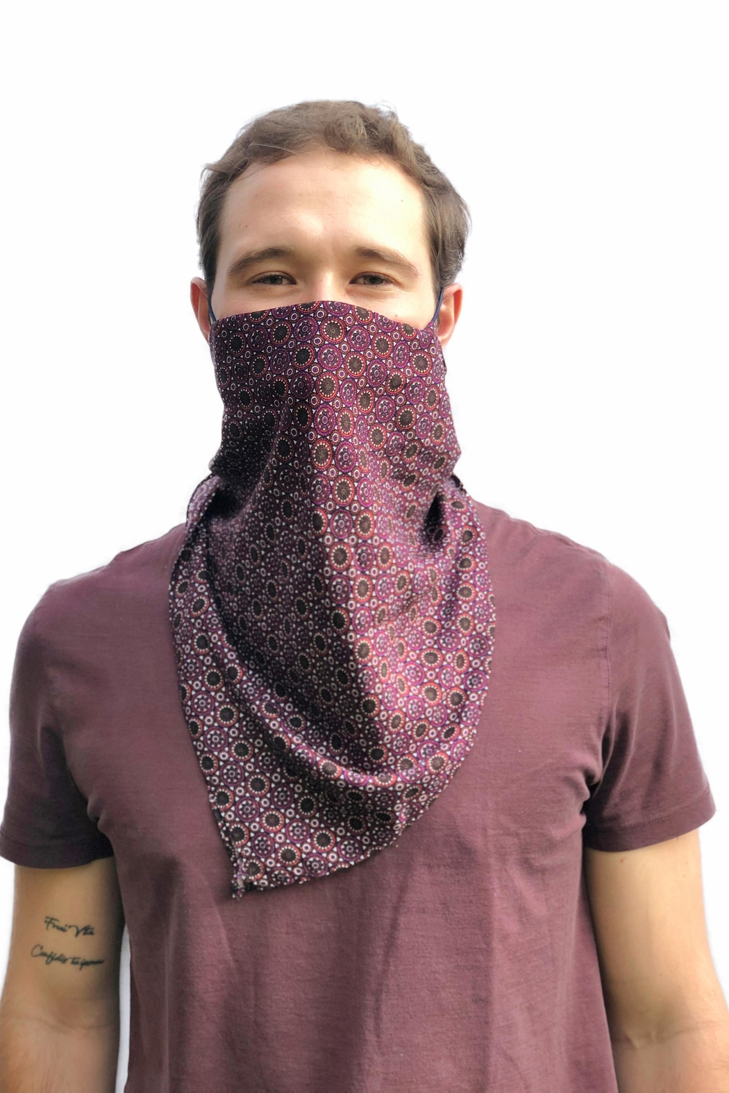 Viesca y Viesca Unisex Scarf Mask - Front Full Image