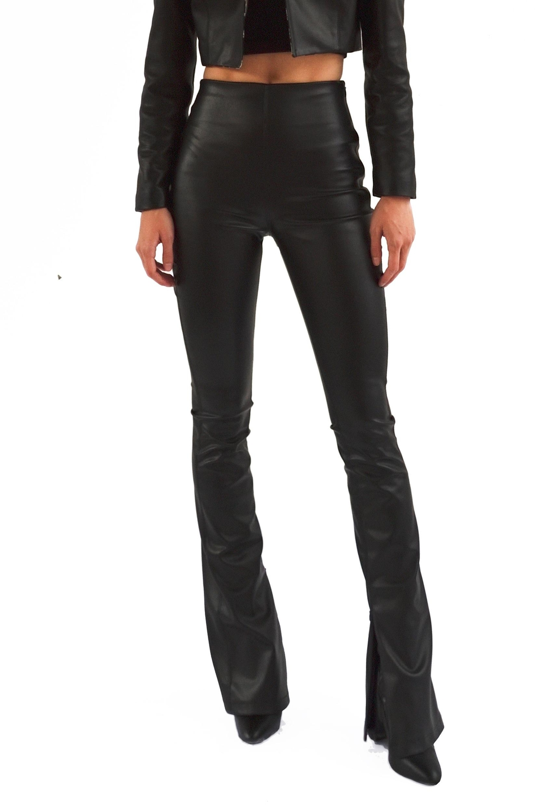 Viesca y Viesca Vegan Leather Pants - Main Image