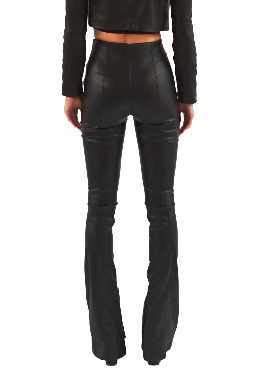 Viesca y Viesca Vegan Leather Pants - Side Cropped Image