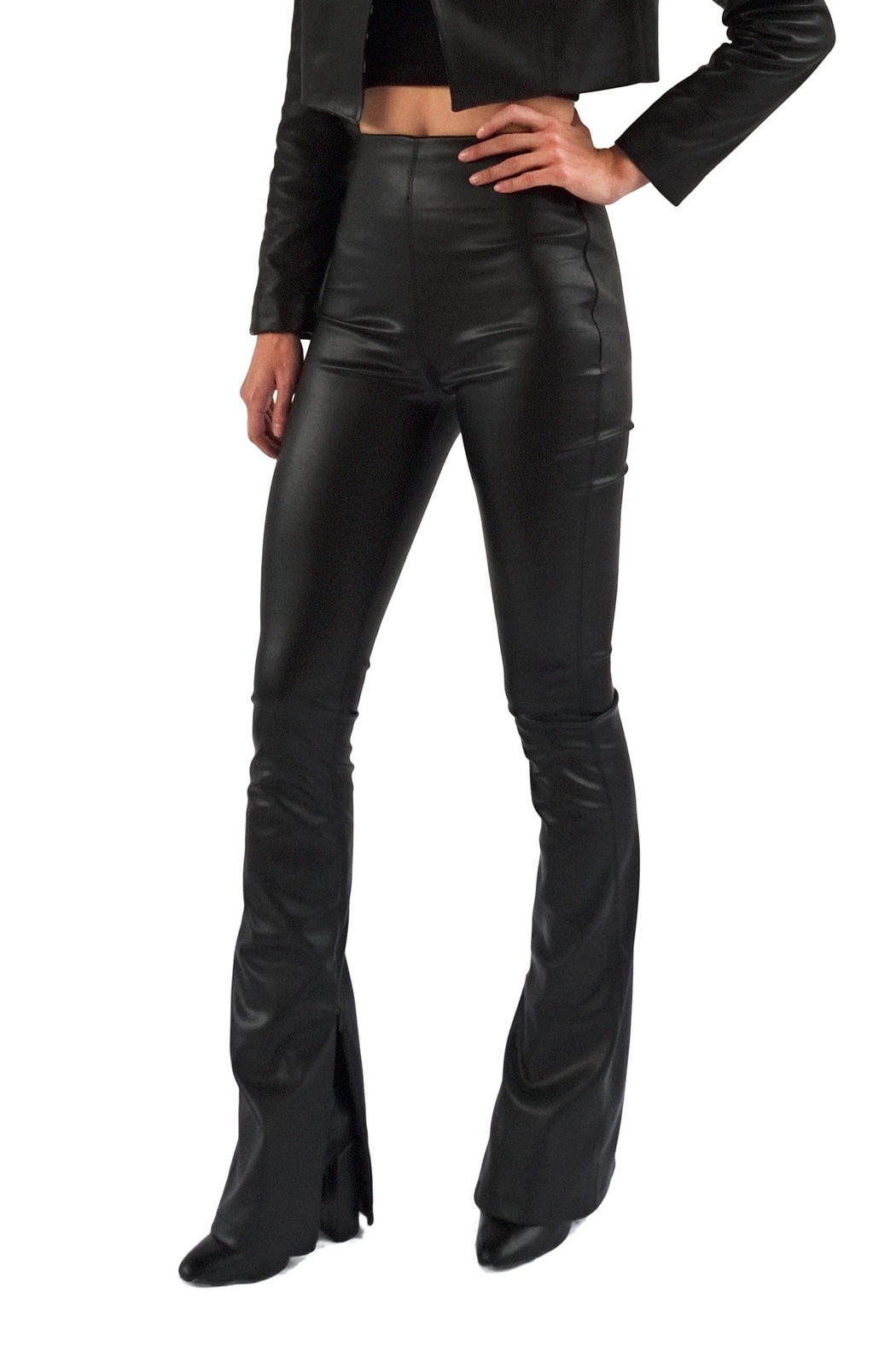 Viesca y Viesca Vegan Leather Pants - Front Full Image
