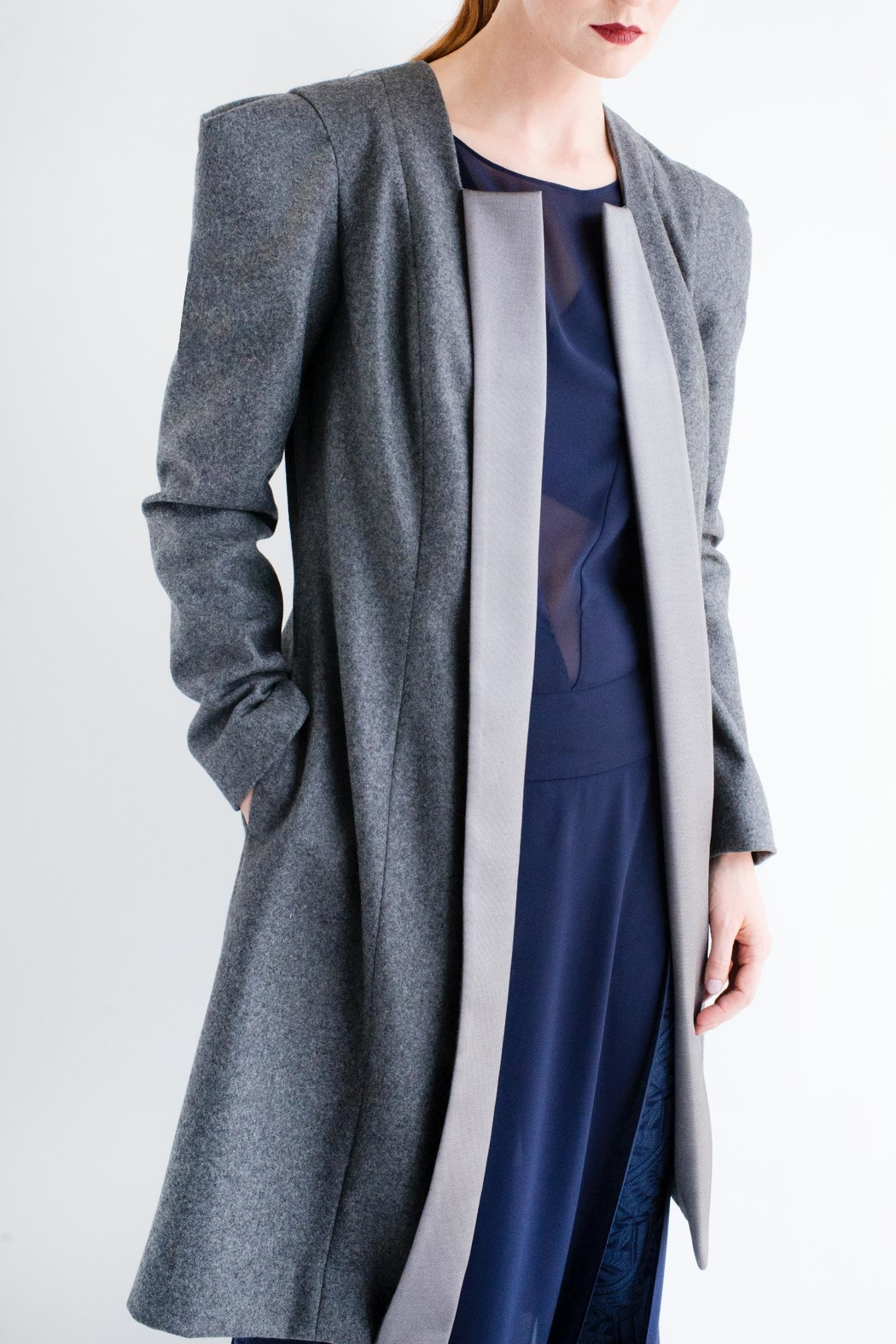 Viesca y Viesca Wool Coat - Front Cropped Image