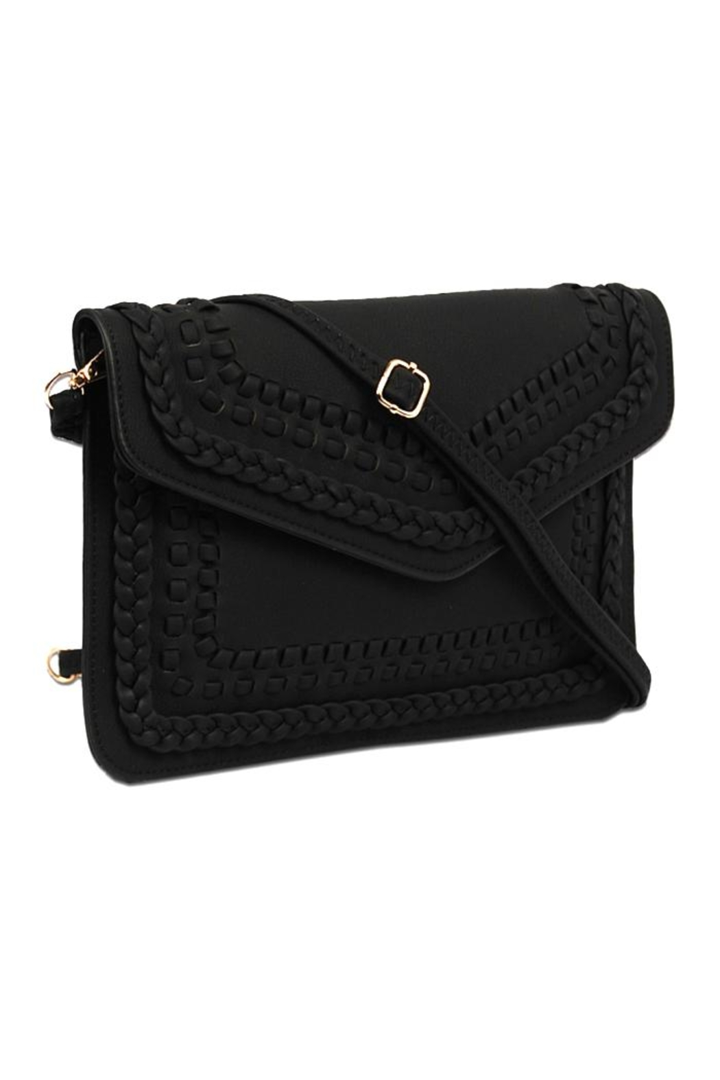 Vieta Vegan Leather Clutch - Front Cropped Image