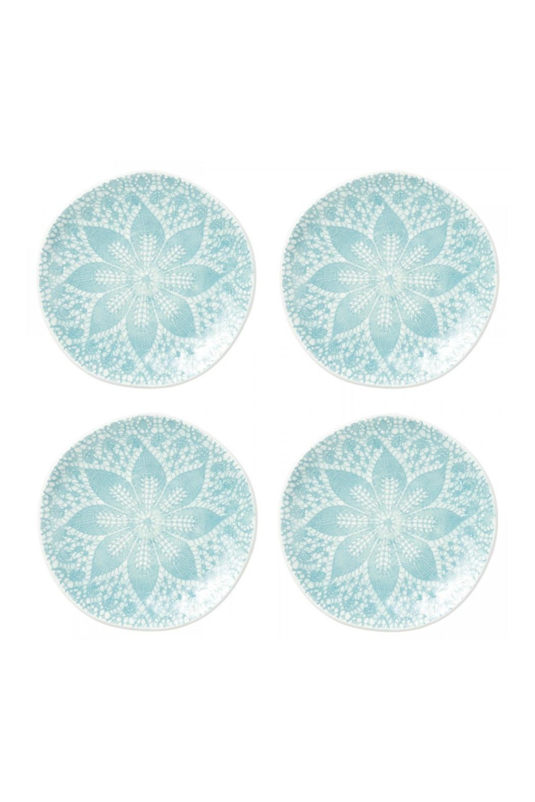 Vietri Lace Cocktail Plates - Front Cropped Image