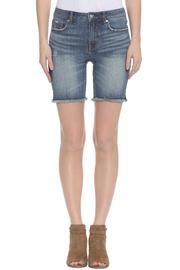 Vigoss Raw Edge Jean Shorts - Product Mini Image