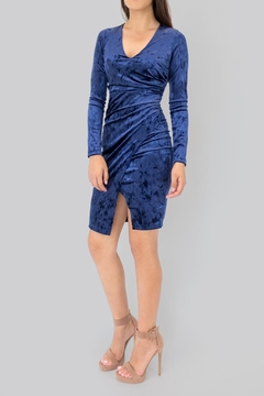 Vijo Couture Draped Velvet Dress - Product List Image