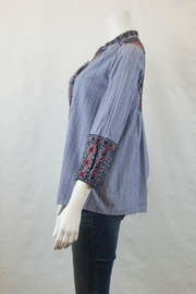 3J Workshop by Johnny Was Vika Paris Blouse - Front full body