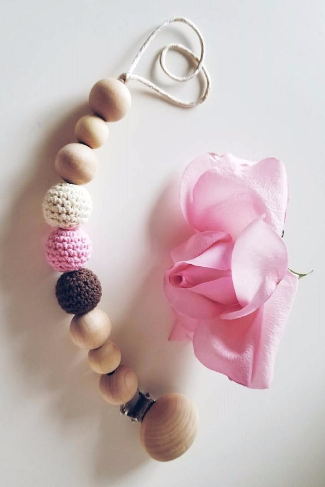 Vika's Creations Wooden Pacifier Clip - Front Cropped Image