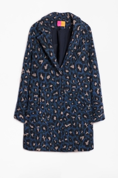 Vilagallo Alberta Coat Blue Mimetic Leopard - Product List Image