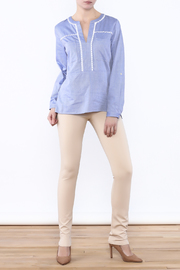 Vilagallo Blue Her Blouse - Front full body