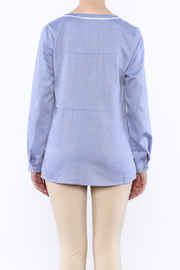 Vilagallo Blue Her Blouse - Back cropped