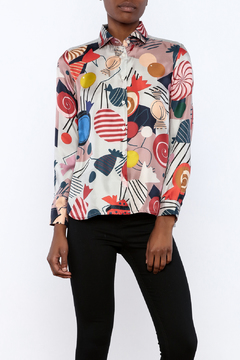 Vilagallo Candy Silk Blouse - Product List Image