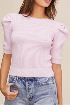 Shoptiques Product: Villa Puff Sleeve Sweater