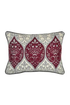 Shoptiques Product: Maroon Grey Pillow