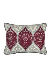 Villa Home Collection Maroon Grey Pillow - Product Mini Image